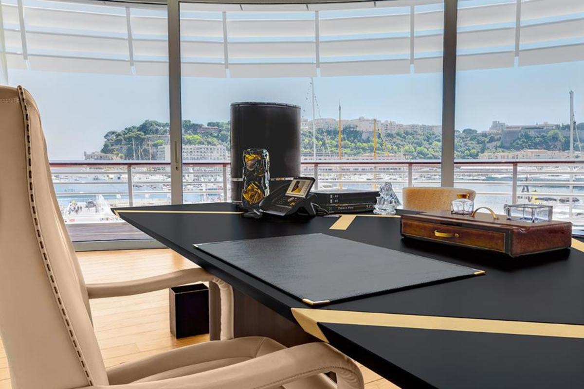 nautical office furniture. In Middle Of The Room We Find Iconic Rectangular Table Margutta -with Top Precious Ebonized Sycamore And Brilliant Steel Inserts That Shape A Nautical Office Furniture O